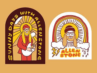 Allen Stone Merch - Stickers illustration allen stone stickers
