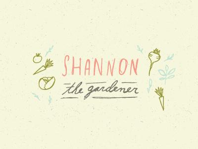 Shannon the Gardener gardening vegetables drawing