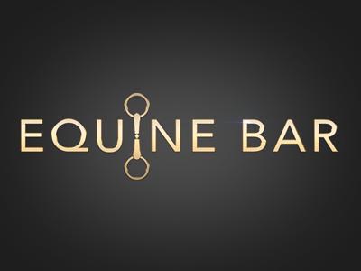 Logo design equine horse gold logo