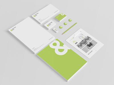 Protein&Co. Branding business cards comp slip letterhead branding