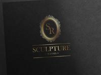 Logo design crest sculpture logo design logo