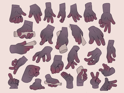 More Hands. skin form fingers hands hand character cartoon illustration
