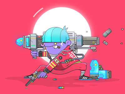 Bazooka Bob!  colour bazooka artist art illustration