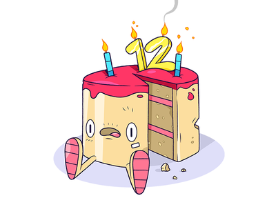 Pound Cake. type birthday food cartoon illustration character cake