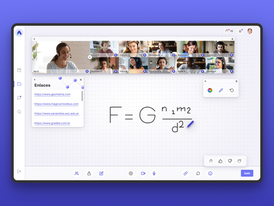AuLAB Virtual Classroom classroom virtual classroom teens learning management system web app product design school lms ux ui identity design branding