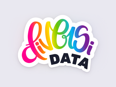 DiversiData Logo & Slack Posts slack colorful rainbow inclusivity inclusive equal diverse inclusion diversity equality newsletter visual identity brand design brand identity identitydesign branding lettering logo logo lettering logo design logo
