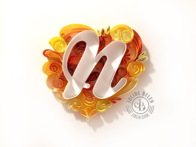 JJBLN   Special One paper illustration paper art paper gift mom mother n quilling mothers day