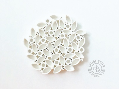 JJBLN   Modern Coaster leaves white quilled paper art handmade quilling paper sculpture paper art coaster