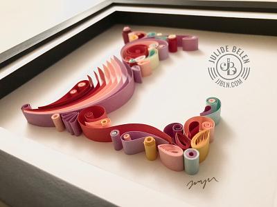 JJBLN   L l colorful paper art type paper typography typography lettering handlettering
