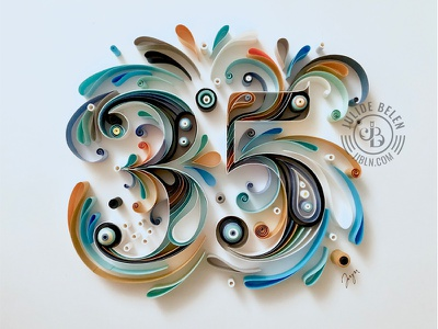 JJBLN | 35 paper typography quilled paper art paper art typography anniversary 35
