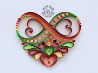 JJBLN | Custom Infinity Heart Quilling Paper Art