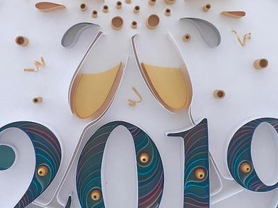 JJBLN   Hello 2019! handmade type handmade font handmade paper typography paper illustration paper art paper typography new year celebrate 2019
