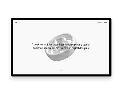 Rasmus Kristiansen Portfolio 2020 3d webdesign digital ui minimalistic interface designer typography branding graphic-design design