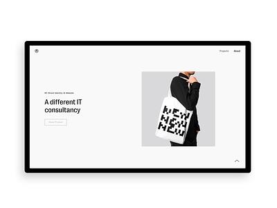 Personal Portfolio 2020 mobile minimalistic digital interface designer ui typography branding graphic-design design