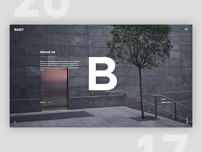 Website – For Creative Company BABY landing-page graphic interface debut designer digital nordic minimalistic ux design ui web