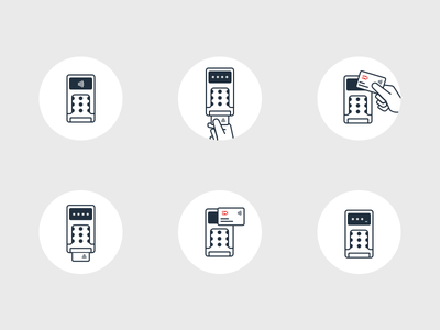 Dankort Icons nfc graphic-design branding illustrations userflow payment icons icon