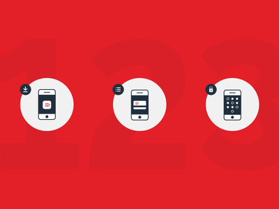 Dankort Mobile Icons branding graphic-design design illustrations icons icon mobile-payment app