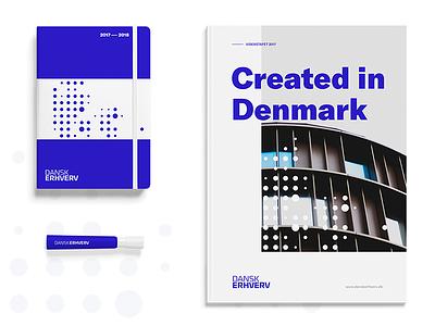 Dansk Erhverv blue design branding identity