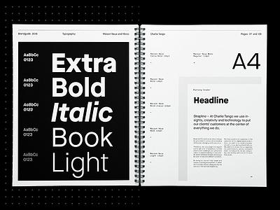Charlie Tango – Visual Identity editorial layout typography graphic design maison neue brandguide branding