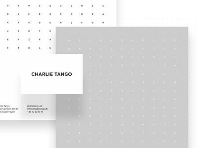 Charlie Tango Visual Identity agency copenhagen nordic minimalistic typography visual identity corporate design graphic design logo design branding