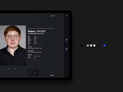CASTIT – Model page denmark agency website minimalistic digital graphic-design blue interface ux ui typography design
