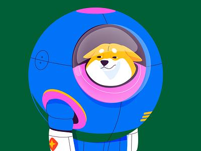 akita for 36 days of type nasa illustration costa rica cute puppy space astronaut dog akita 36daysoftype