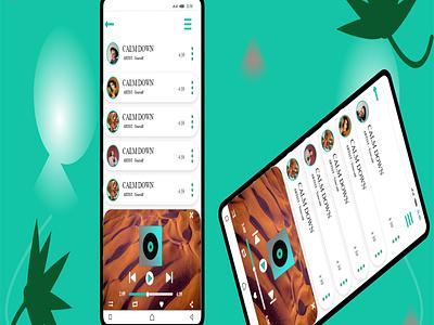 Music Player App Design appdesign graphic design carrentalflyer ui app branding