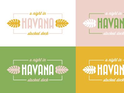 A Night in Havana Gala Logo cuba logo vector art gala branding retro tropical event branding