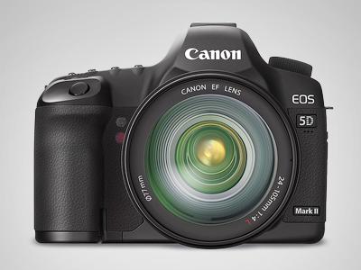 Canon 5D Mark II canon 5d vector icon illustrator camera lens gradient mesh