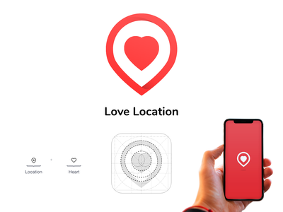 Love location vector adobe xd app design ui branding logo design icon
