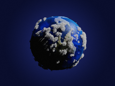 Tiny Planet earth world abstract tiny planet space blender 3d planet 3d blender