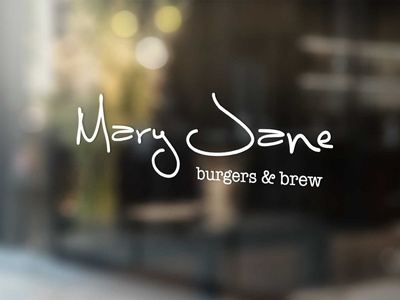 Mary Jane Burger's and Brew Sign