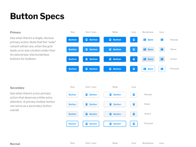New buttons for Heap's app design-system buttons