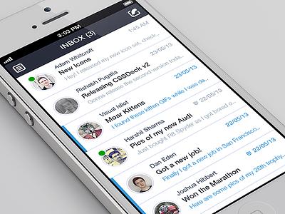 iPhone Email Client Design Concept app design ui ux iphone email mail client mailbox gmail