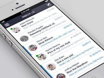 iPhone Email Client Design Concept
