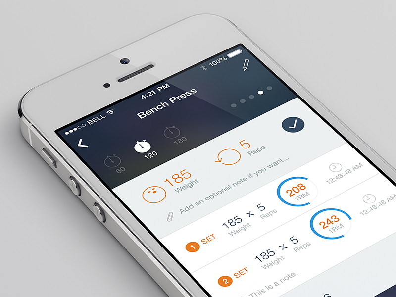 Workouts ios 7 flat iphone ux ui design app ios 7 ios7 workouts fitness