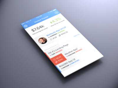 Income Tracker App ios7 ios ui ux design app iphone