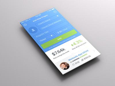 Add new project ios7 ios 7 form ui ux design app iphone
