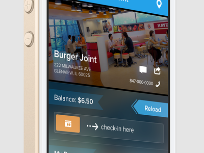 LoyalUp - Business Screen ui ux design iphone app interface mobile perspective flat ios7 ios ios 7