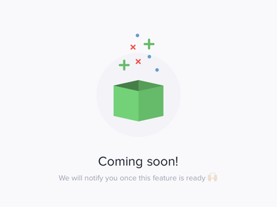 Coming soon graphic for Bouncelytics illustration feature soon coming webapp ux ui design web