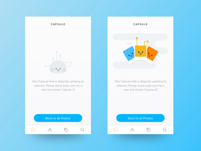 Updating Firmware ios app design ui illustrations minimal clean mobile characters photos icons line