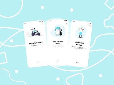 Food App - MoodBoard UI illustration design ui