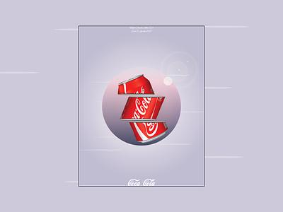 sliced coca cola poster branding ui