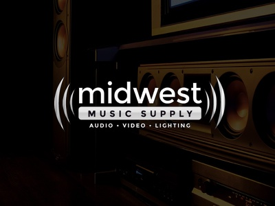 Midwest Music Supply logo design small business