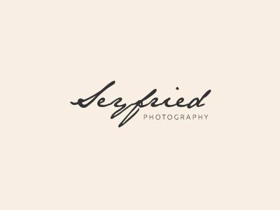 Seyfried Photography photography photographer logo handwritten