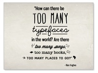 Too Many Typefaces Graphic