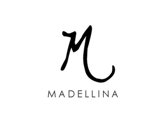 Madellina minimalist logo luxury name script handwritten