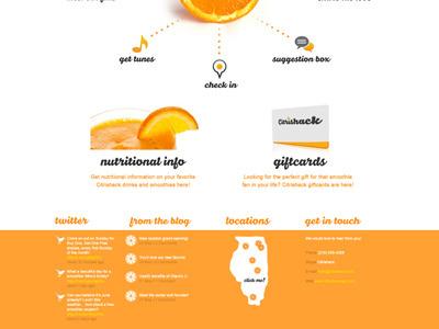 Citrishack Website Design Bottom website design smoothie orange