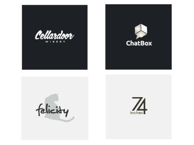 Logo Samples logos minimalist black and white