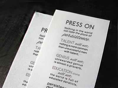 Press On kerning leading typography inspirational